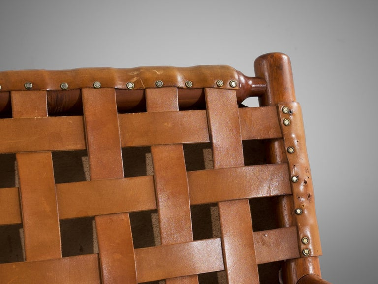 Finnish Ilmari Tapiovaara Lounge Chair in Teak For Sale