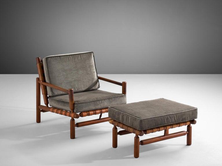 Ilmari Tapiovaara Lounge Chair in Teak In Good Condition For Sale In Waalwijk, NL
