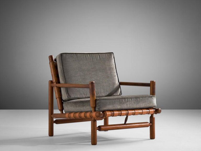 Mid-20th Century Ilmari Tapiovaara Lounge Chair in Teak For Sale