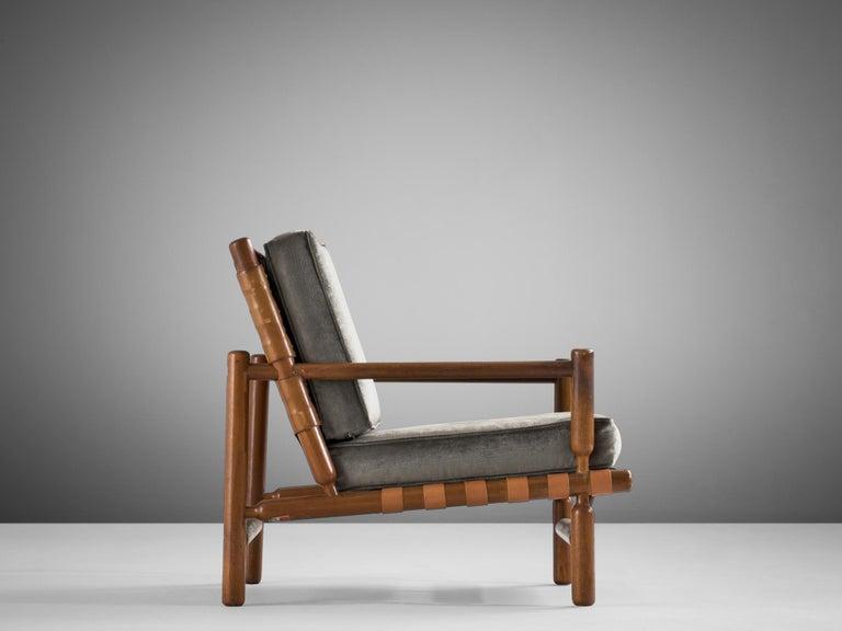 Ilmari Tapiovaara Lounge Chair in Teak For Sale 1
