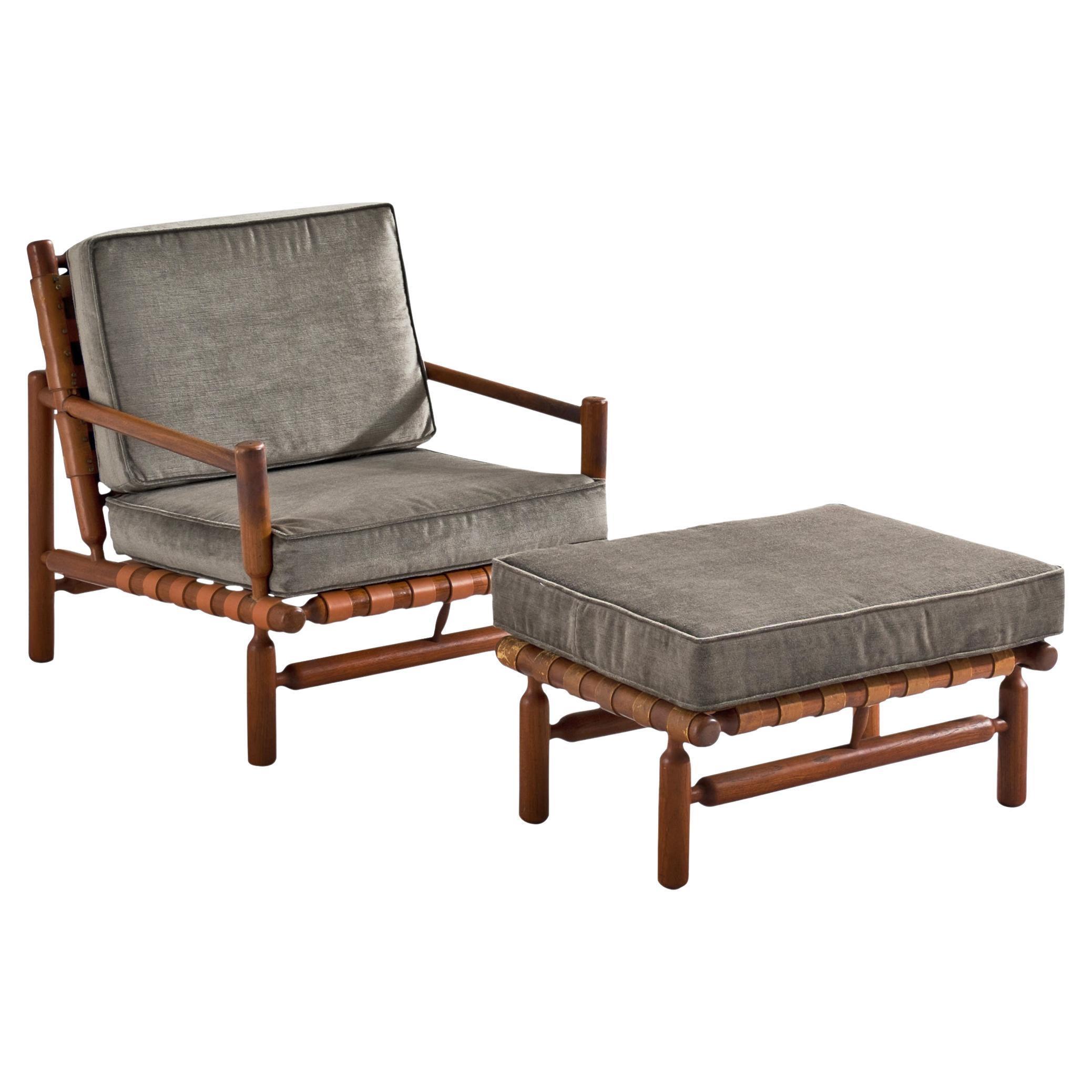 Ilmari Tapiovaara Lounge Chair in Teak