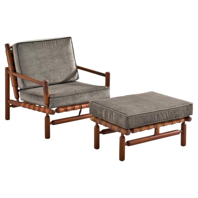 Ilmari Tapiovaara Lounge Chair in Teak For Sale