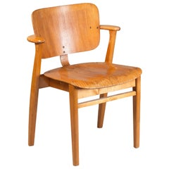 "Ilmari Tapiovaara Midcentury Domus Chair ""The Finn Chair"" by Artek, Finland"