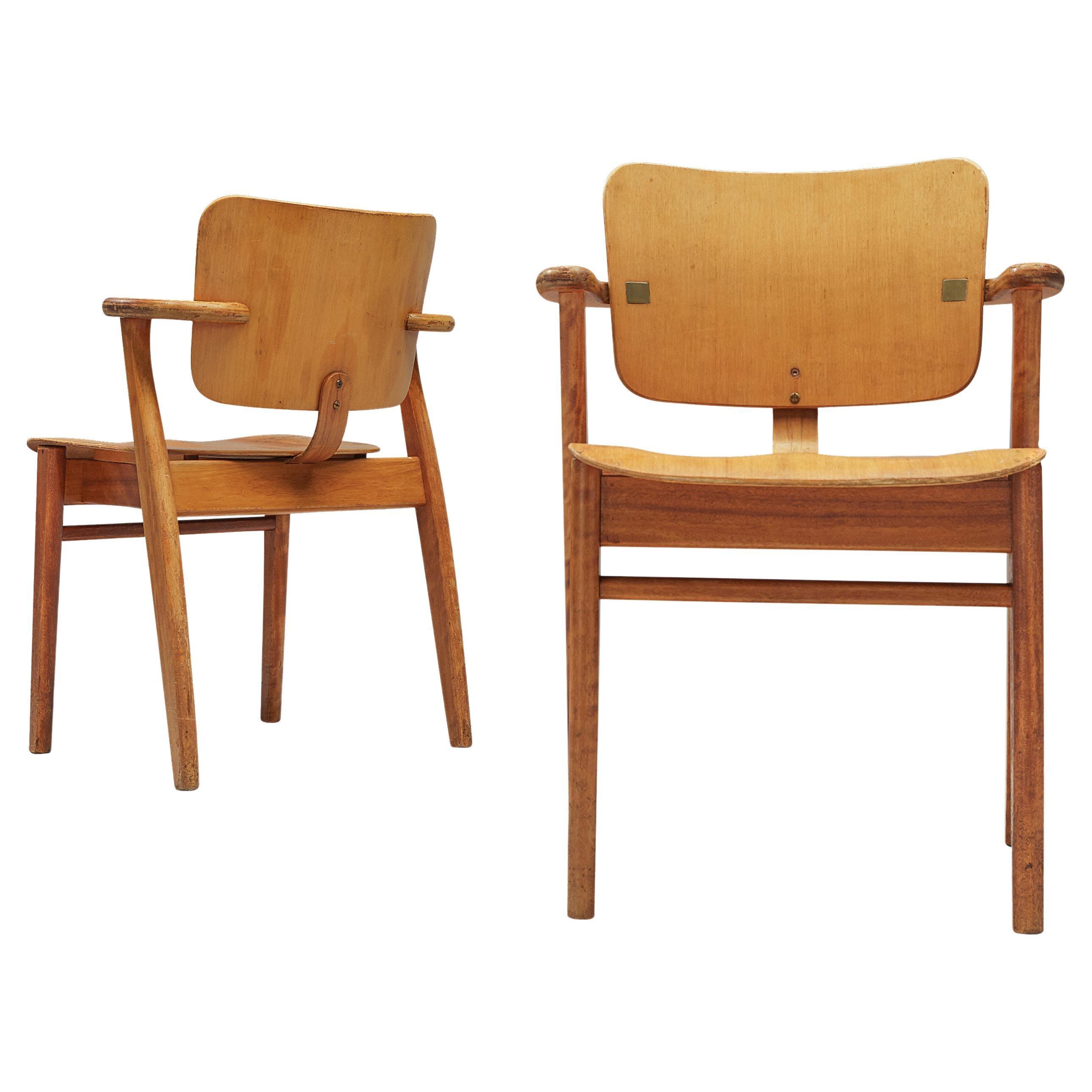 Ilmari Tapiovaara Pair of 'Domus' Dining Chairs in Birch