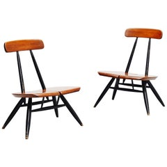 Ilmari Tapiovaara Pirkka Lounge Chairs, Pair, Finland, 1955