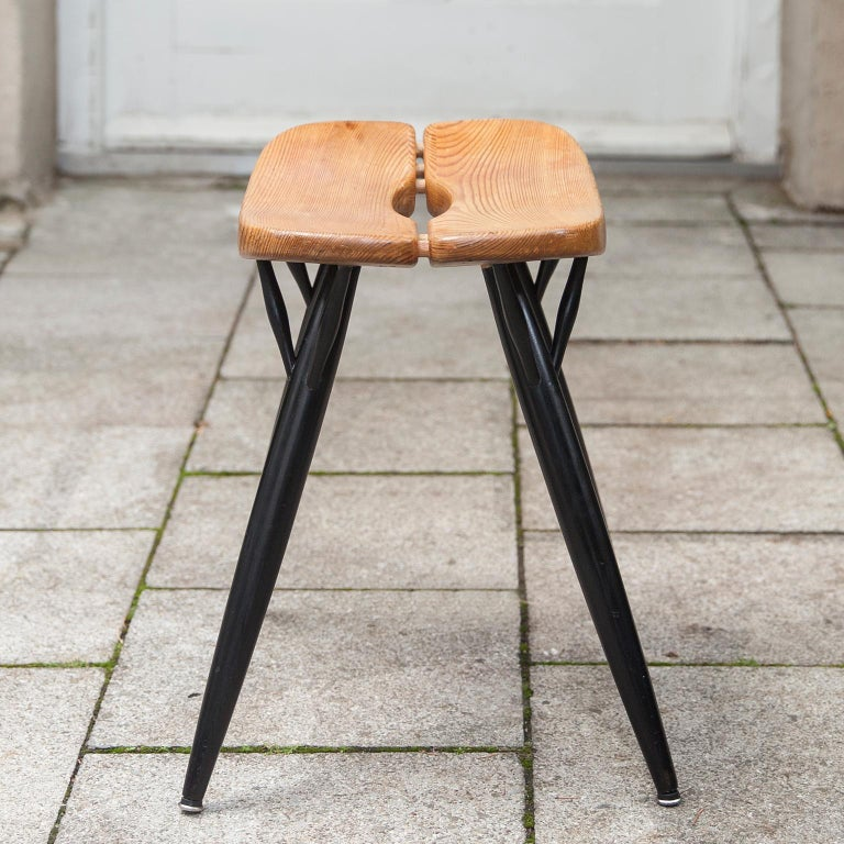 Finnish Ilmari Tapiovaara Pirkka Stool for Laukaan Puu, 1950s For Sale