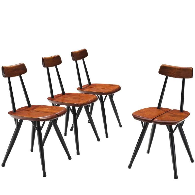 Ilmari Tapiovaara Set of Four Pirkka Chairs