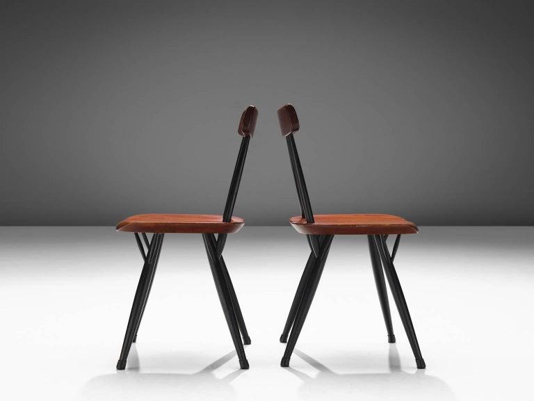 Finnish Ilmari Tapiovaara Set of Four Pirkka Chairs For Sale