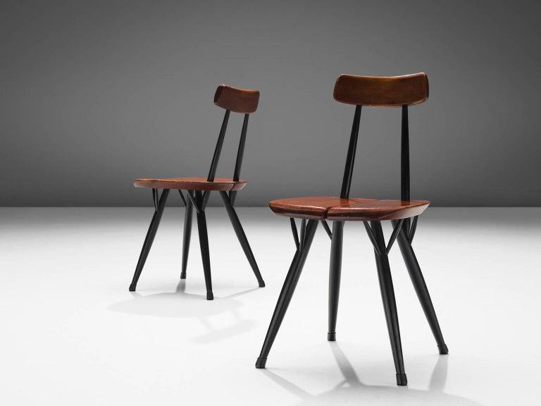 Ilmari Tapiovaara Set of Four Pirkka Chairs In Good Condition For Sale In Waalwijk, NL