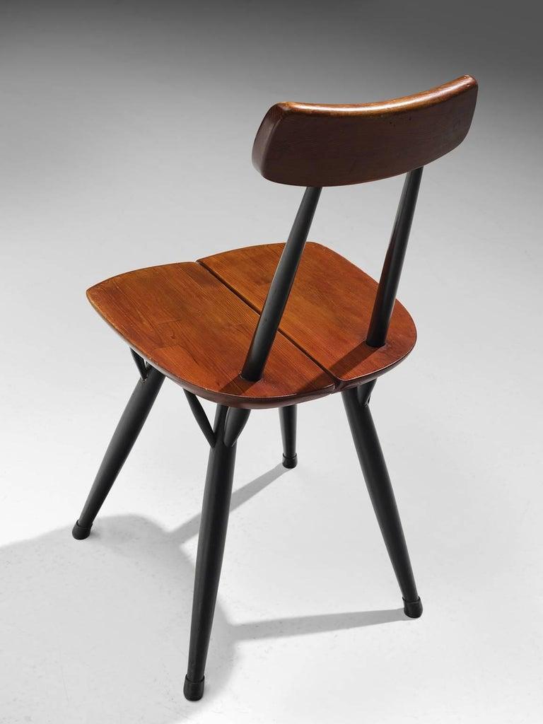 Mid-20th Century Ilmari Tapiovaara Set of Four Pirkka Chairs For Sale