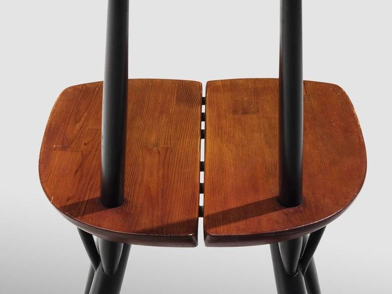 Beech Ilmari Tapiovaara Set of Four Pirkka Chairs For Sale