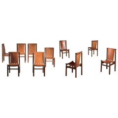 Ilmari Tapiovaara Set of Ten Dining Chairs La Permanente Cantù, 1950
