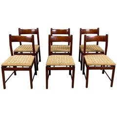 Ilmari Tapiovaara Six Chairs Solid Teak for La Permanente Cantù, 1960s