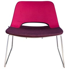 Ilpo Designs Extrakool Chair by Alessio Pozzoli in Two Tone Pink Textured Fabric