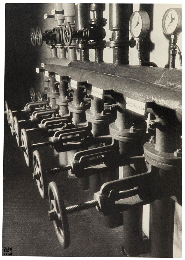 Ilse Bing Black and White Photograph - Heating Pipes In Basement, 1930