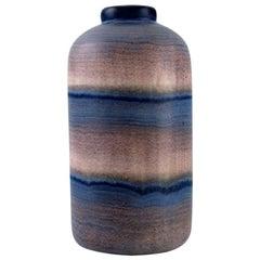 Ilse Claesson for Rörstrand, Rare Glazed Ceramic Vase with Striped Design