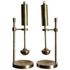 Ilse D. Ammonsen Daproma Design Brass Ship Oil Lamps, 1950s