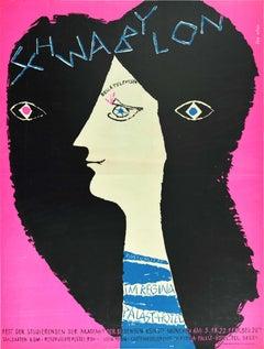 Original Vintage Poster Schwabylon Carnival Ball At Munich Academy Of Fine Arts