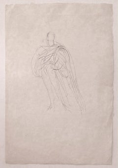 Figure  - Original Etching and Drypoint on Paper by Ilse Voigt - Mid20th Century