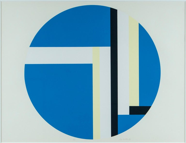 Ilya Bolotowsky silkscreen print, series 2, edition 81/125. Signed and editioned in pencil on print 81 of 125. Professionally framed with museum glass.  A fervent proponent of the power of abstract art and a major figure in American abstraction,