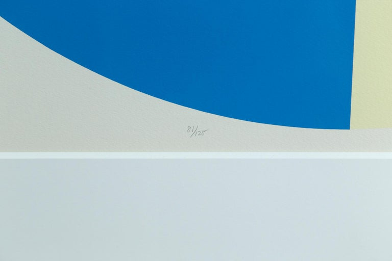 Ilya Bolotowsky Geometric Signed, Editioned Silkscreen Print, Series 2 In Good Condition For Sale In Norwalk, CT