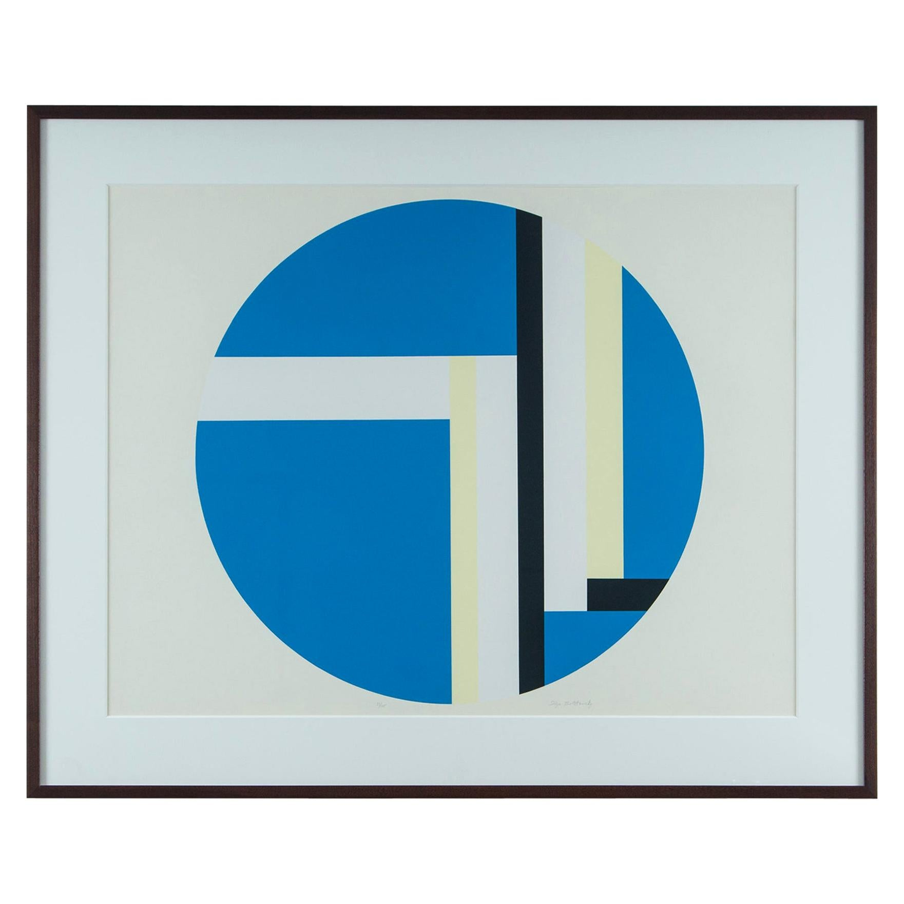 Ilya Bolotowsky Geometric Signed, Editioned Silkscreen Print, Series 2