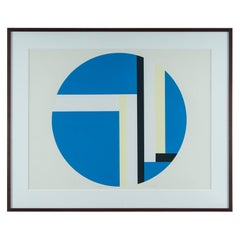 Ilya Bolotowsky Geometric Signed, Editioned Silkscreen Print, Series 2