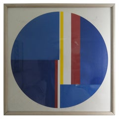 "Ilya Bolotowsky ""Untitled"" Blue Tonde, Signed And Numbered Screenprint"