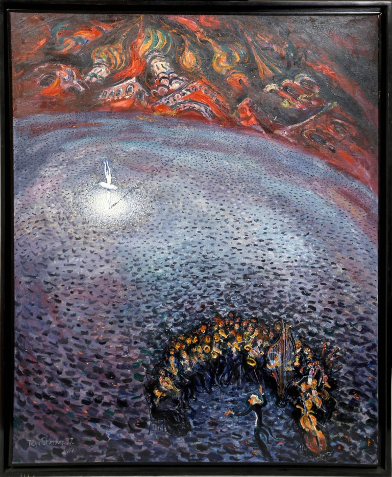 Ilya Shenker Figurative Painting - Swan Lake