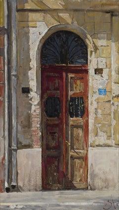 Serbian Door - 21st Century Contemporary Landscape Oil Painting