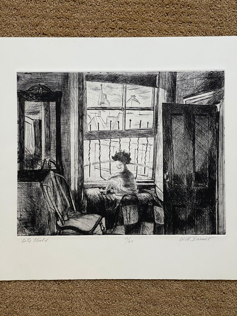 American Images of Children Etching Entitled
