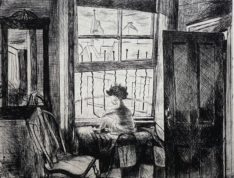 20th Century Images of Children Etching Entitled
