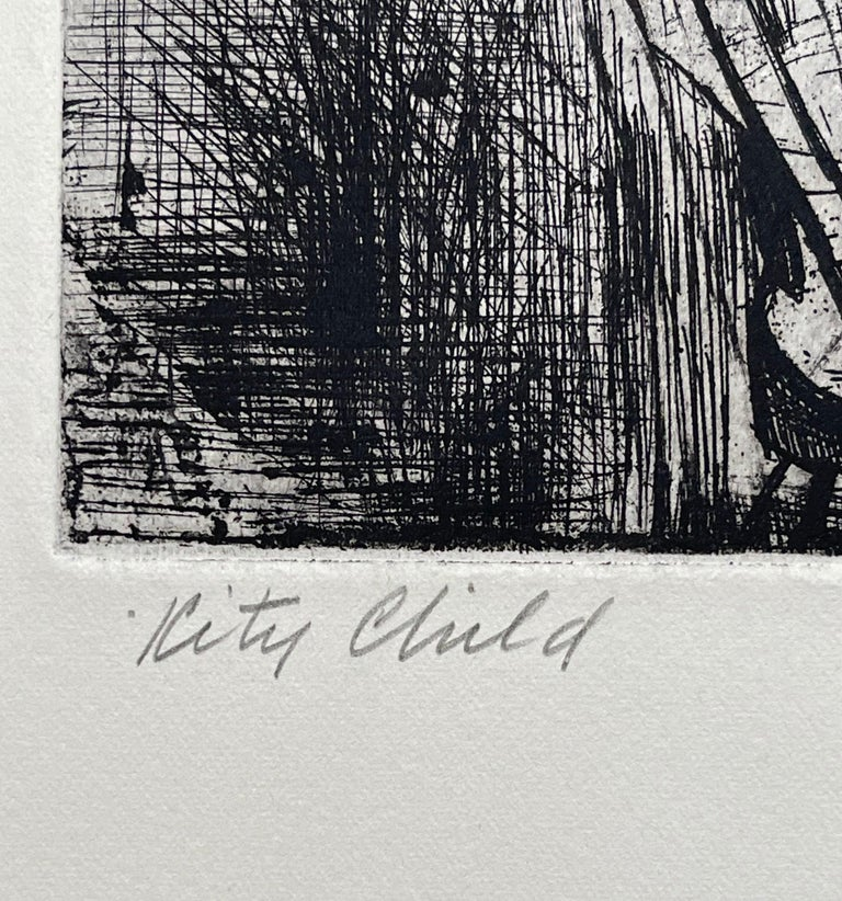 Images of Children Etching Entitled