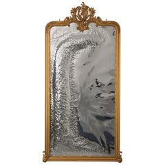 Imaginarium Mirror in Carved Wood and Gold Leaf Patina Modern Classic by Bessa