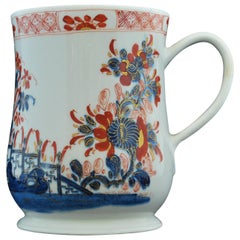 Imari Decorated Tankard, Bow Porcelain Factory, circa 1753