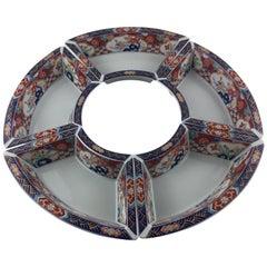 Imari Octagonal Shaped Serving Dish Comprised of 5 Bowls