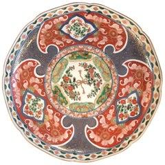 Imari Porcelain Charger Meiji Period