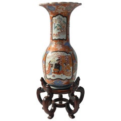Imari Porcelain Vase with Stand