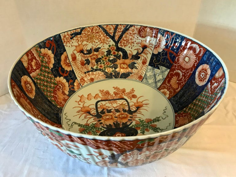 Japanese Imari Punch Bowl For Sale