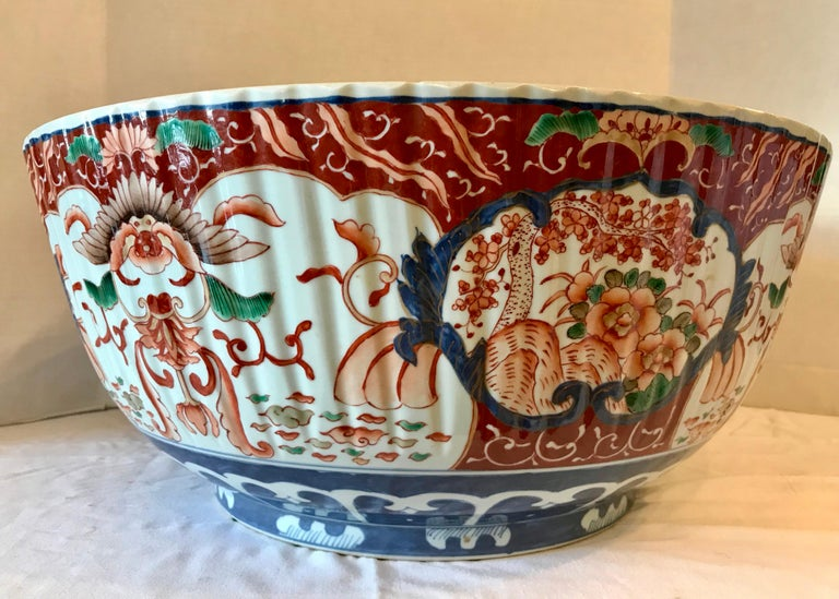 20th Century Imari Punch Bowl For Sale