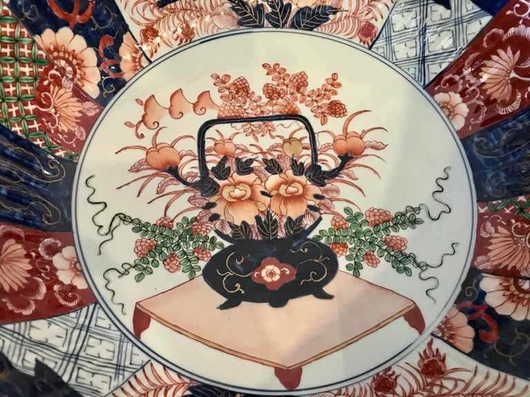 Porcelain Imari Punch Bowl For Sale