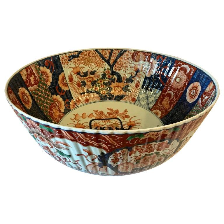 Imari Punch Bowl For Sale