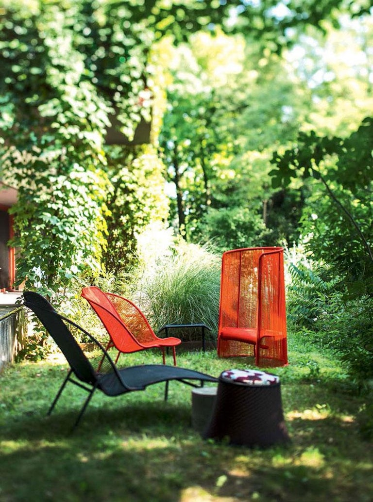 Imba Stool by Moroso for Indoor and Outdoor Use In New Condition For Sale In Rhinebeck, NY