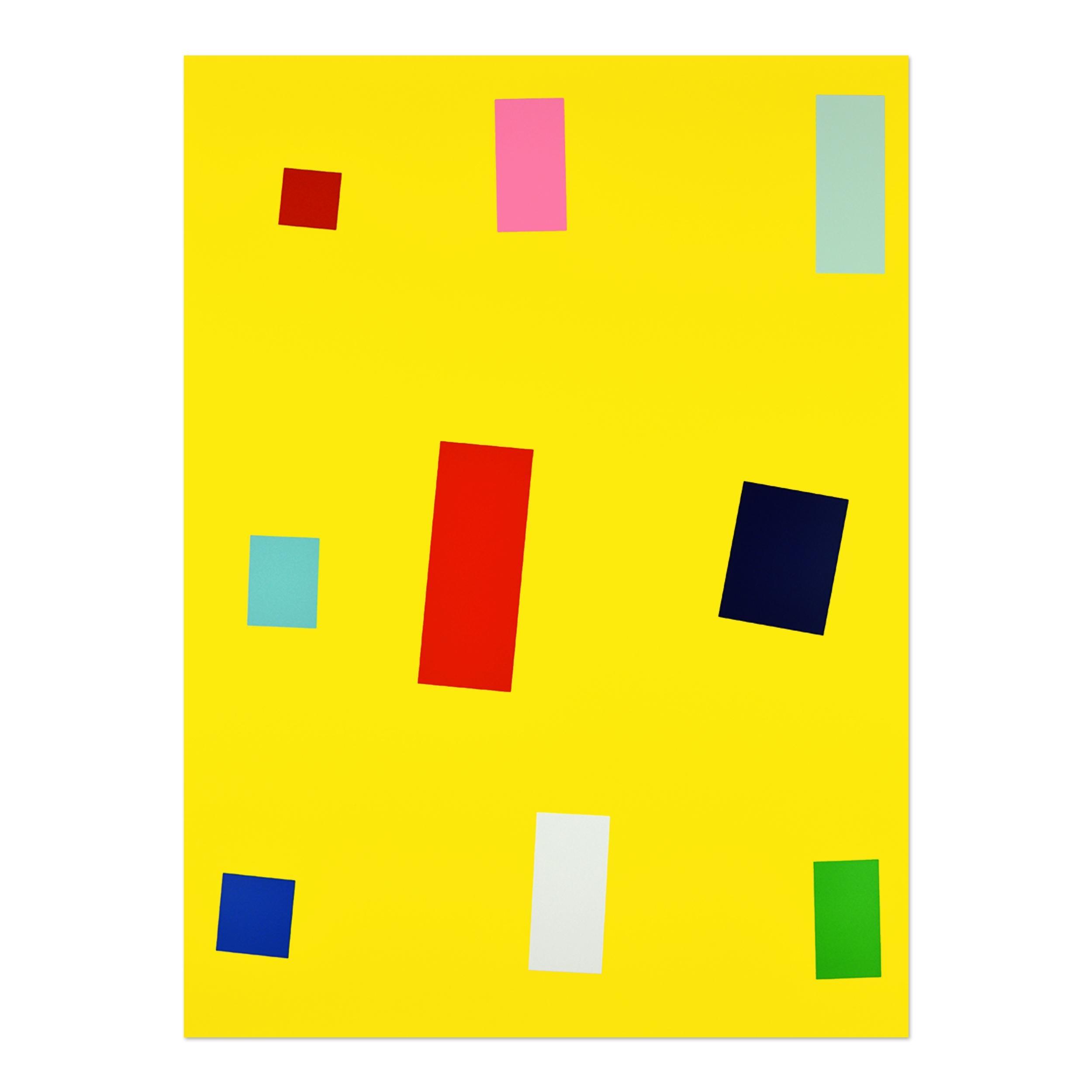 Gelbe Fahne, 1999, Abstract Art, Minimalism, 20th Century Contemporary Art
