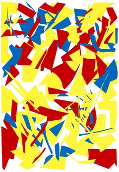 Messerschnitte (Knife Cuts), Large Silkscreen, Minimalism, Abstract Art