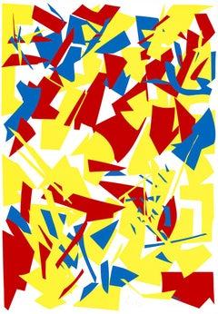 Messerschnitte (Knife Cuts), Large Silkscreen, Minimalism, Abstract Art