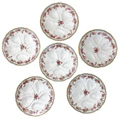 Immaculate Set of Six French Limoges Oyster Plates