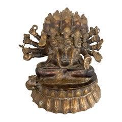 Immense Bronze Extra Large Ganesha Ganesh Carved Sculpture Statue Art