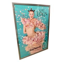 Immense Framed Vintage Poster Cacharal D'Eau Eden
