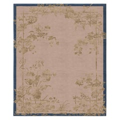 Immortality Grove Gold Leaf - Floral Ornament Hand Knotted Wool Silk Rug